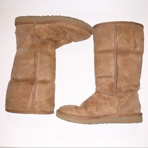 UGG Chestnut Tan Classic Tall Suede Boots SZ 8